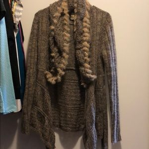 BKE fur sweater